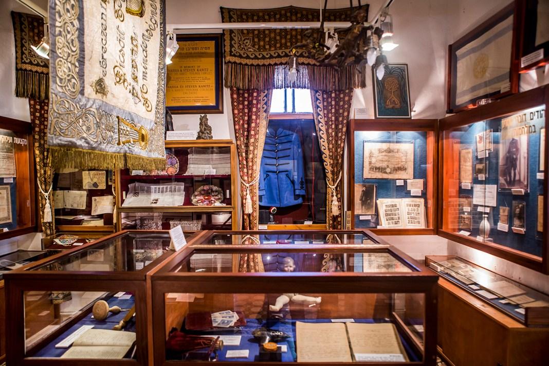 Kiálítóterem a cfati múzeumban - fotó: Bernadett Rochman