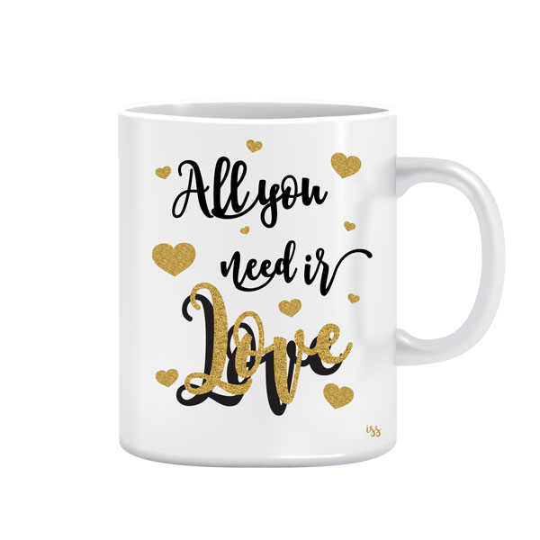 All you need is love 1 - dizajnerska šalica (iz serije Afirmacije i motivacije)