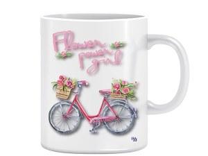 Flover Power Girl - dizajnerska šalica (iz serije Afirmacije i motivacije)