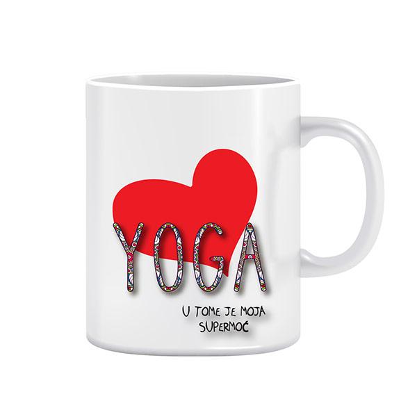 Supermoć Yoga - dizajnerska šalica (iz serije Afirmacije i motivacije)