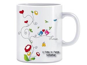 Supermoć Ljubav - dizajnerska šalica (iz serije Afirmacije i motivacije)