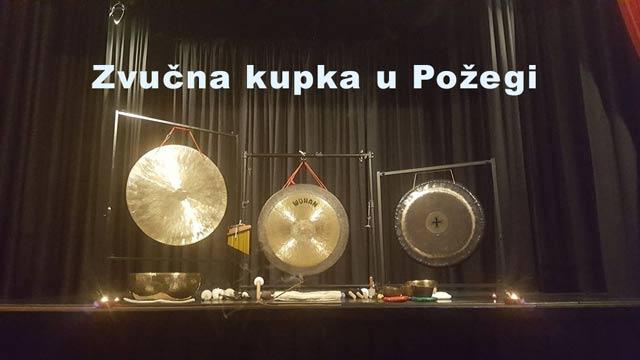 Gong zvučna kupka u Požegi