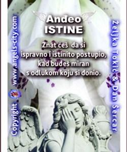 Anđeo s tobom! Anđeoska karta tjedna, Anđeo istine: Bit ćete prisiljeni situacije rješavati izravno i iskreno, nikakav uzmak neće biti moguć!