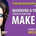 Frizersko kozmetički salon Nicole, u centru Zagreba, manikura, pedikura, make up