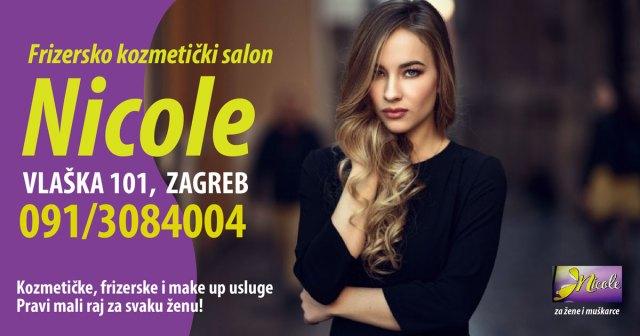 Frizerski salon Nicole za žene i muškarce u centru Zagreba - brzi tretmani pramenova i farbanja kose