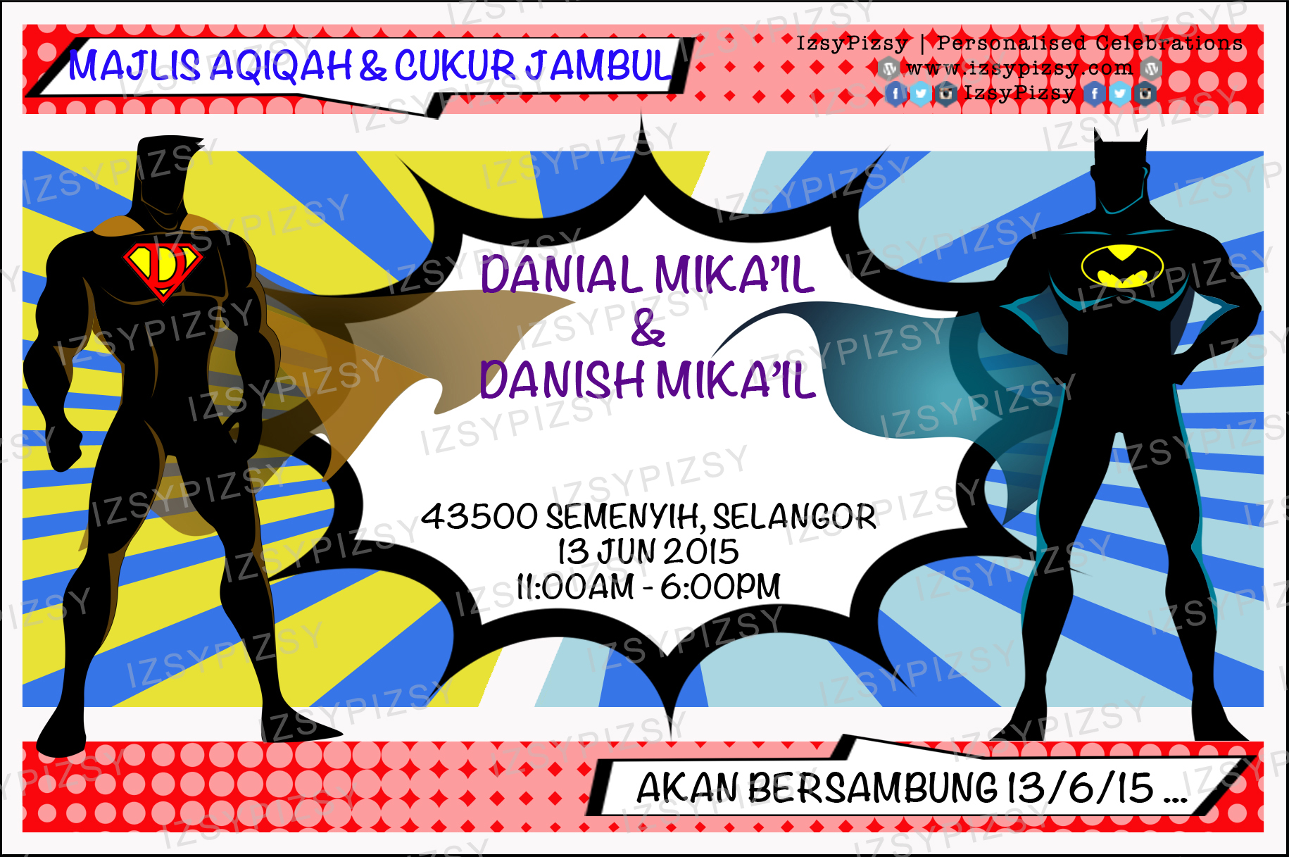 batman vs superman theme majlis aqiqah