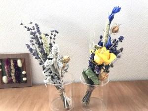 三日月型しめ縄飾りとしてもスワッグ花束としても2wayで楽しめます。