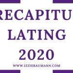 Recapitulating 2020