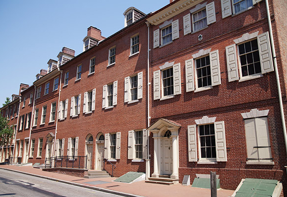 rowhouses society hill
