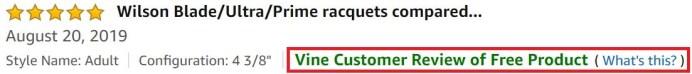 Amazon Vine Badge