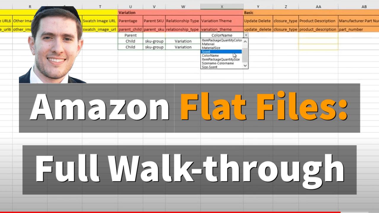 Amazon flat file variations