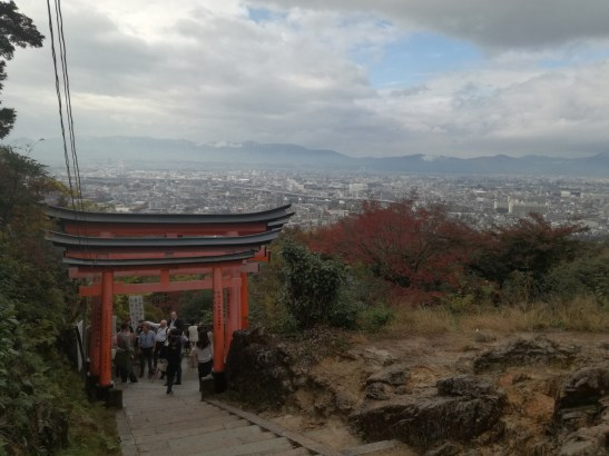 The view at the top of Mt Inari