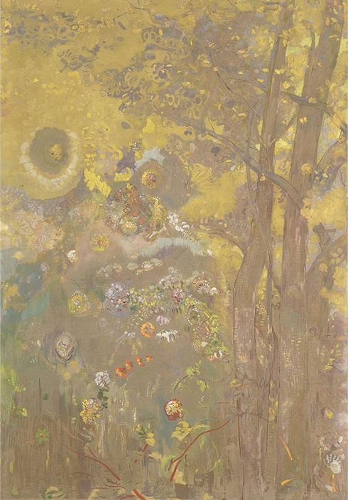 odilon_redon_-_trees_on_a_yellow_background_-_google_art_project