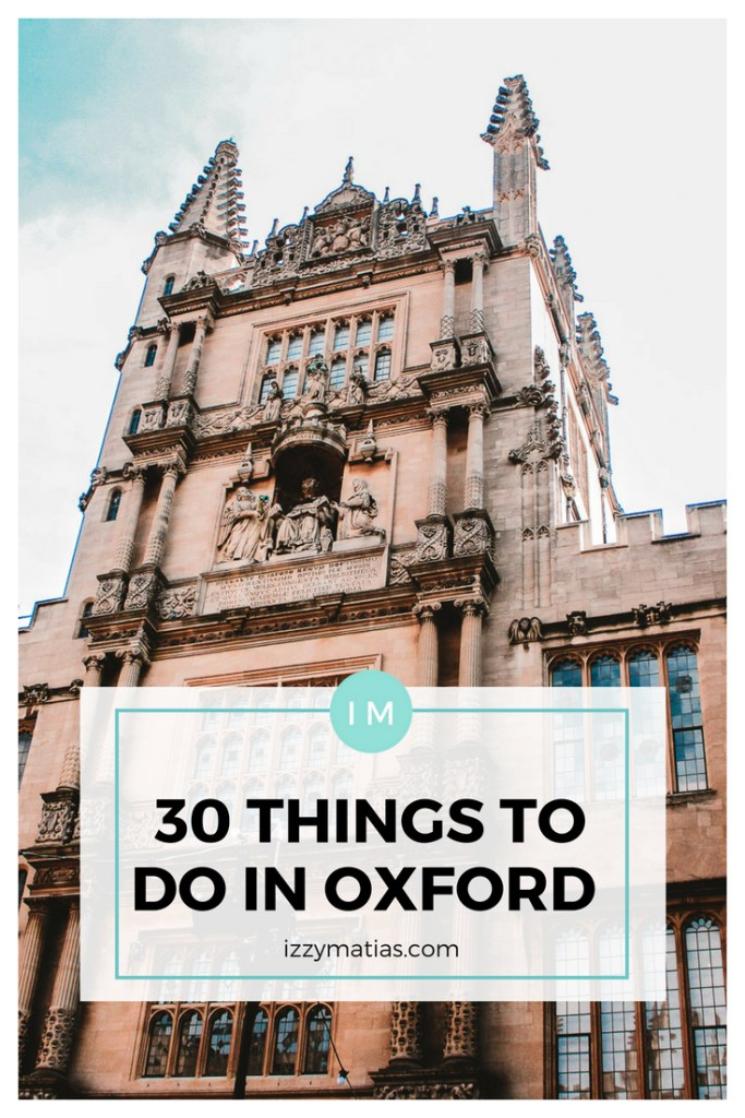 Learn about the 30 things you can do in Oxford City and make the most out of your trip! From tours to places to eat, this comprehensive list has got you covered! #oxford #oxfordtravel #travelguide