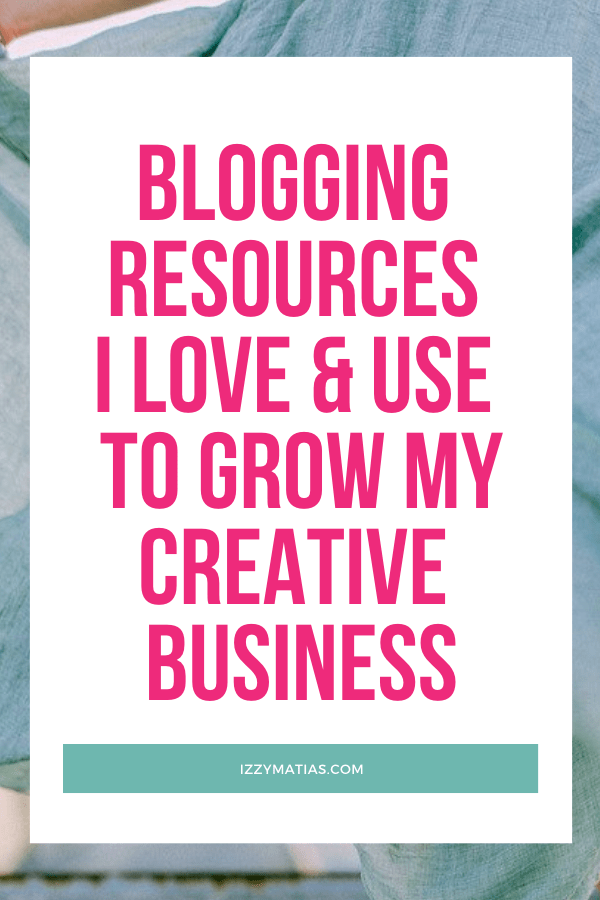 I share with you my top blogging tools & resources that help me set up and manage my online creative business & blog. Find out more now! #bloggingresources #bloggingtools