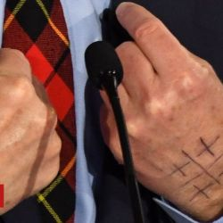 Impeach Tom Steyer: What is the symbol he draws on his hand?