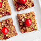 Strawberry and Cherry Oatmeal Bars
