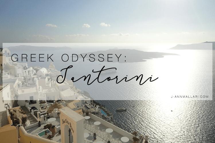 Greek Odyssey: Santorini