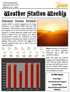 Weather Station Weekly - September 25th, 2015