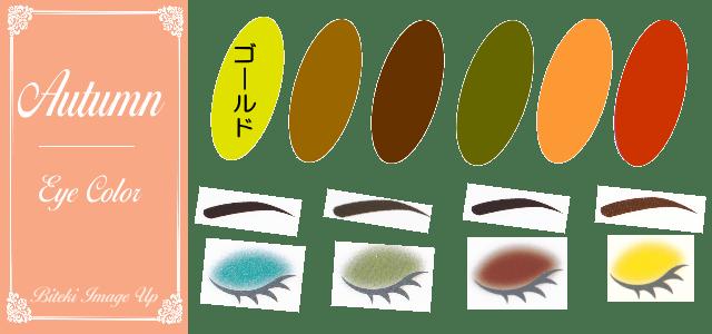パーソナルカラー秋オータムのアイシャドウ