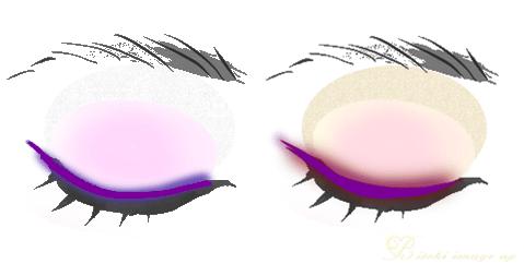 パープル紫アイライン、シャドウの使い方