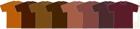カラータイプ別ブラウン茶色Tシャツ