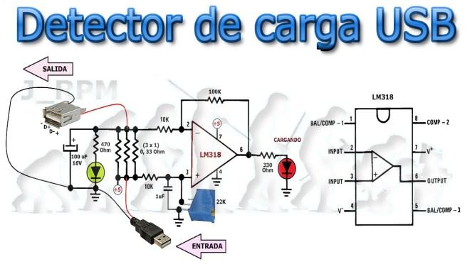 Esquema: Detector de carga USB