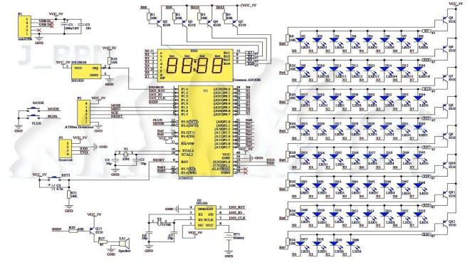 Esquema del reloj: EC1204B