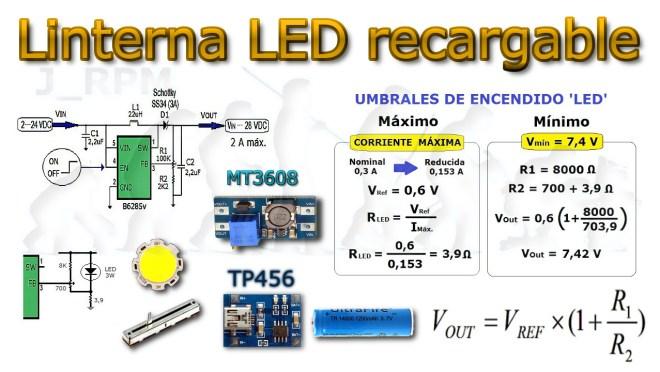 Cálculos - Linterna LED