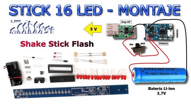 Montaje: Stick 16 LED