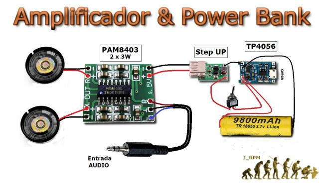Amplificador & Power Bank