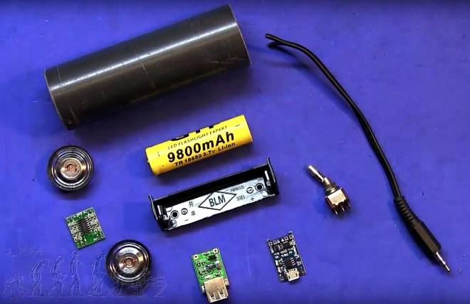 Material para el montaje del amplificador