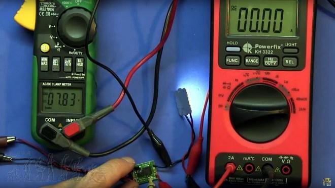Tensión mínima LED