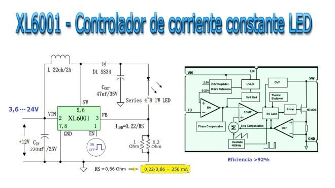 XL6001 - Control LED