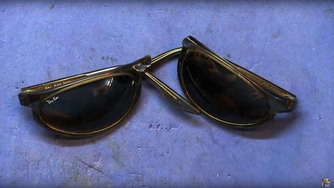 Gafas de acetato rotas