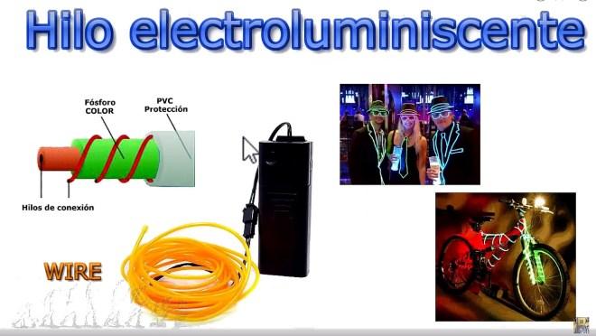 Hilo electroluminiscente