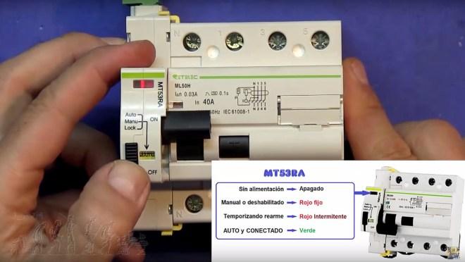 MT53RA modos de funcionamiento