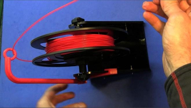 Soporte-guía para filamento 3D