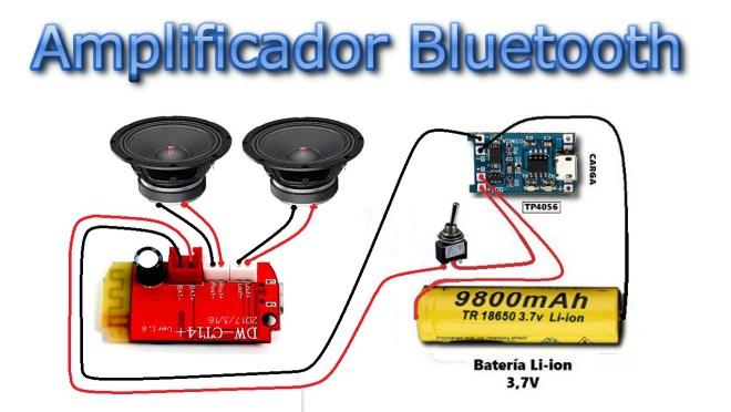 Esquema del amplificador Bluetooth