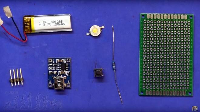 Mini Linterna (Componentes)
