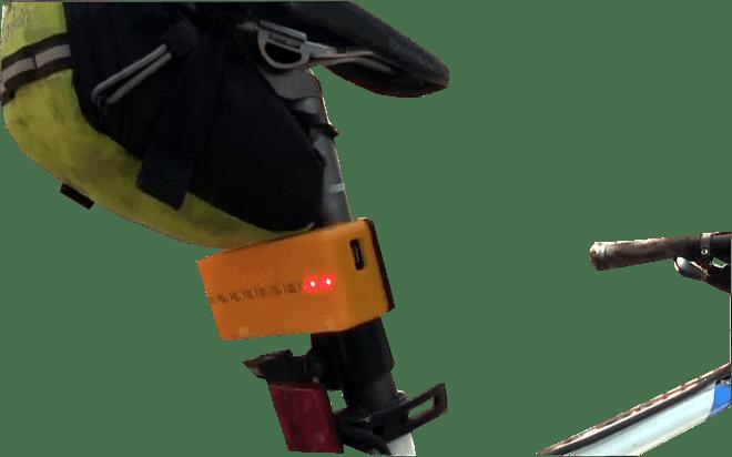 Barra LED en la bicicleta