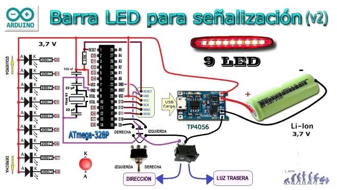 Esquema: Barra LED (v2)