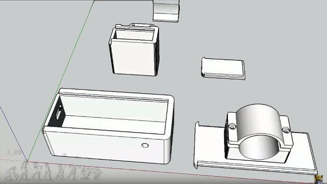 Barra LED: Piezas 3D