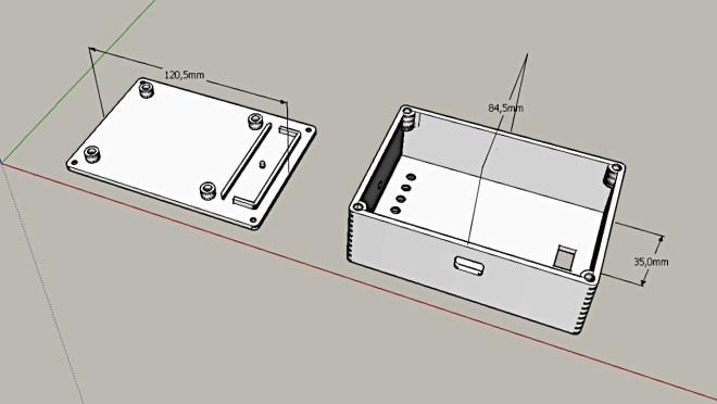 Caja 3D: Transmisor DCF77