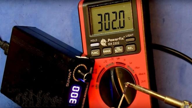 Soldador T12: Control de temperatura