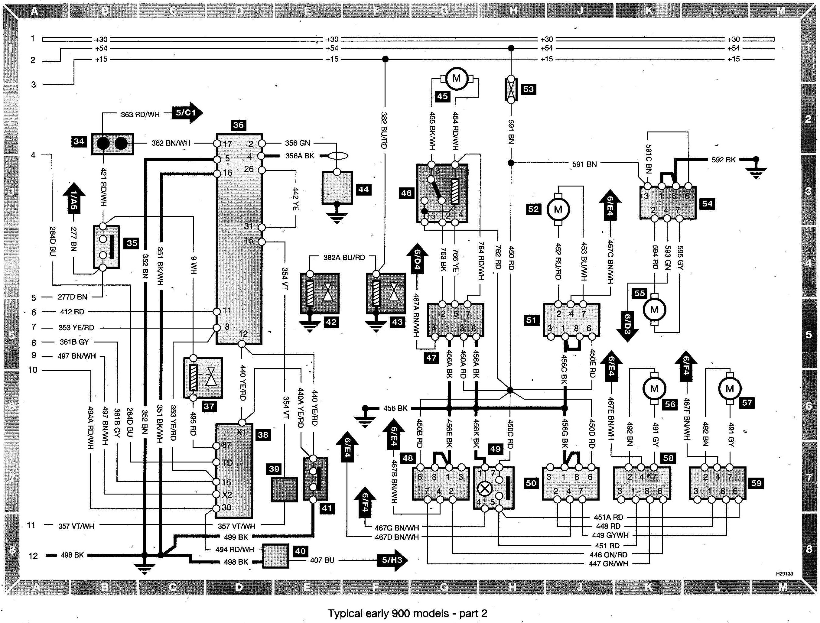 Saab 900 Wiring diagram (early models) part 2?resized665%2C505 saab 93 wiring diagram saab wallpaper \u2022 wiring diagrams j squared co  at soozxer.org