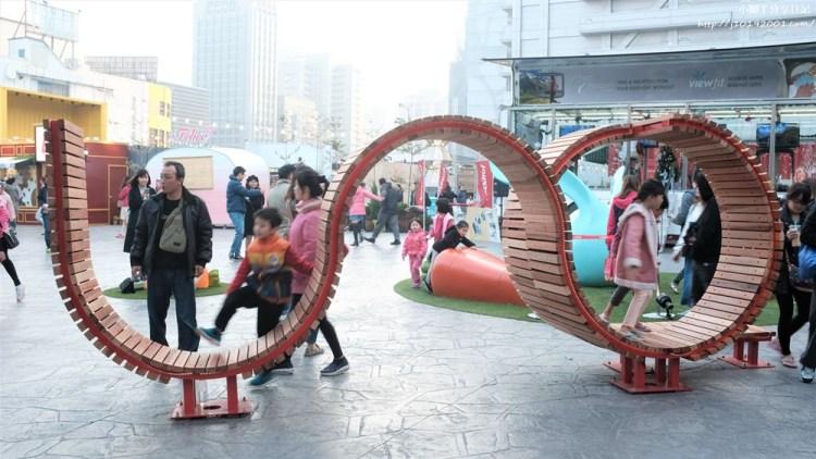 年節走春 貨櫃市集︱台中UNO市集 熱鬧非凡 美食小吃店眾多 連旋轉木馬也進駐了