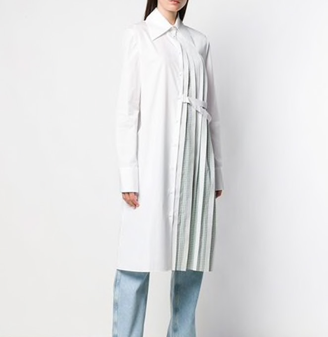 CONSTRUCTED LONG SHIRT
