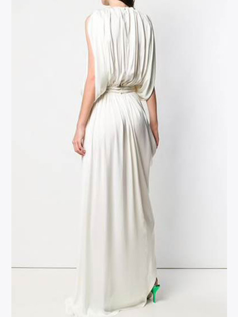 DRAPED LONG DRESS