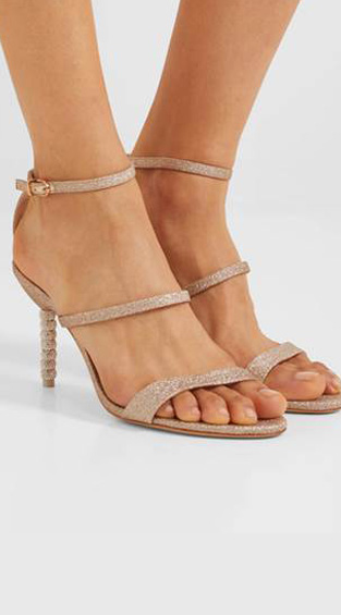 CRYSTAL – LEATHER SANDALS